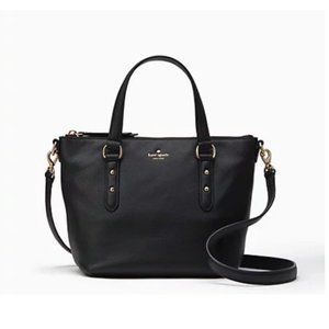 Kate Spade Larchmont Ave Black Leather Bag NWT